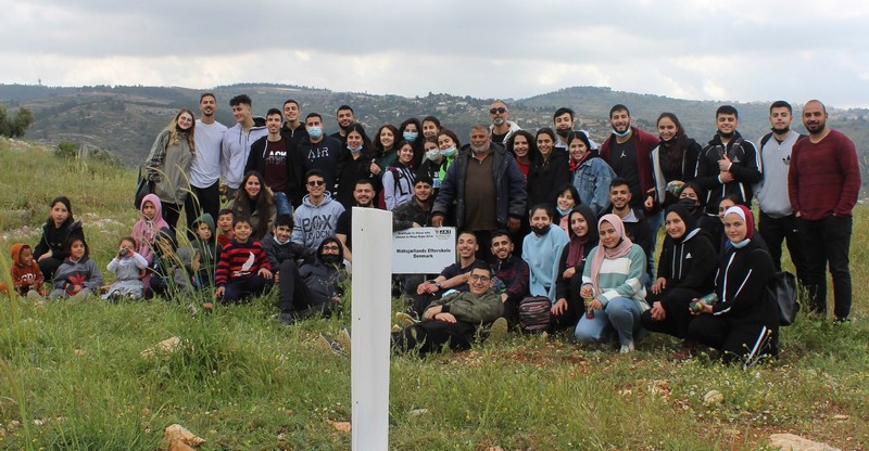 Olive planting activity with Palestinian teenagers and youth